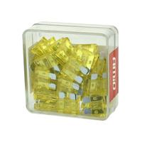 Bezpieczniki płytkowe 20A - 100szt