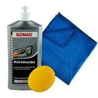 Wosk koloryzujący srebrny Sonax 500ml + aplikator + mikrofibra