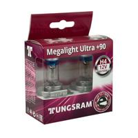 Żarówka samochodowa H4 Tungsram MegaLight Ultra Plus 90% - 2szt