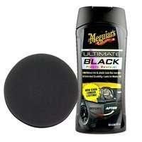 Zestaw: Meguiars Ultimate Black Plastic Restorer żel do plastików 355ml + aplikator