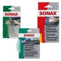 Zestaw: SONAX Gąbka do wosku + Gąbka do owadów + Gąbka do wnętrza
