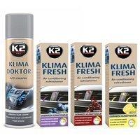 Zestaw: do klimatyzacji K2 Klima Doktor 500ml+ 3x K2 Klima Fresh 150ml