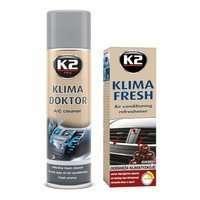 Zestaw: do klimatyzacji K2 Klima Doktor 500ml + Klima Fresh Cherry 150ml