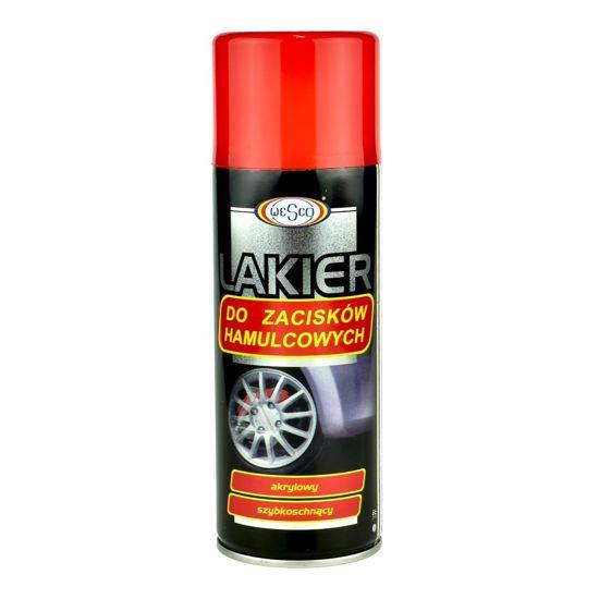 Akrylowy lakier do zacisków i bębnów hamulcowych - Czerwony spray 400ml