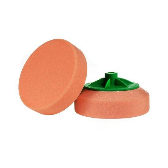 Boll gąbka polerska na gwint  M14 pomarańczowa średnio twarda 150/50mm