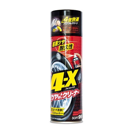 Dressing do opon w sprayu Soft99 4-X Tire Cleaner 470ml