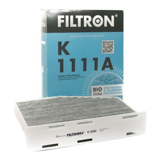 FILTRON filtr kabinowy K1111A - Audi A3 II 05.2003-,Seat Altea Toledo III 04.04- Skoda Octavia I - z węglem