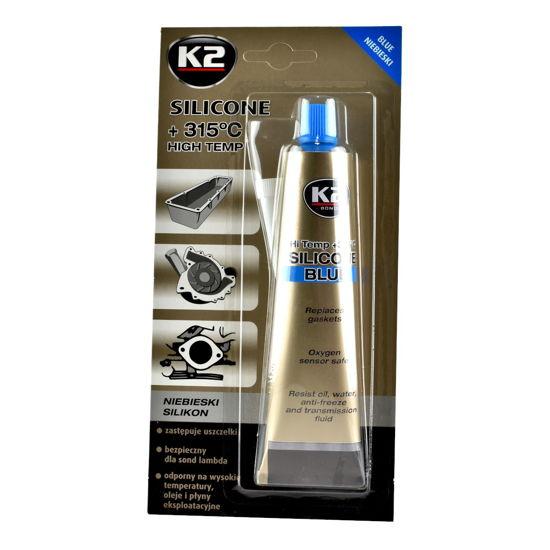 K2 Niebieski silikon wysokotemperaturowy do 350°C tubka 85g