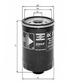 Knecht filtr oleju OC272 - Fiat, Alfa Marea, Punto 1.8