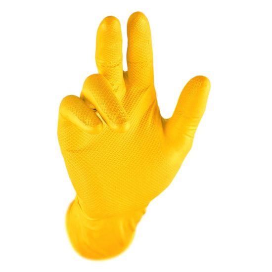 """Rękawice nitrylowe grube GRIPPAZ 300 10szt """"L"""""""